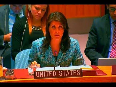 Xxx Mp4 UN Ambassador Nikki Haley Goes RED 🔴 Over The Situation In Yemen 3gp Sex