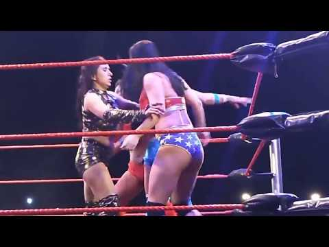 Woman wrestling in India.