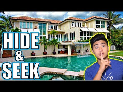 HIDE AND SEEK IN OUR NEW MANSION