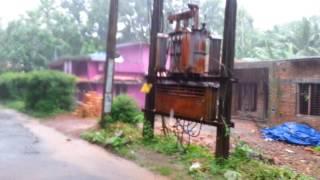 Rain in kerala village Vallikunnam.. Alappuzha district