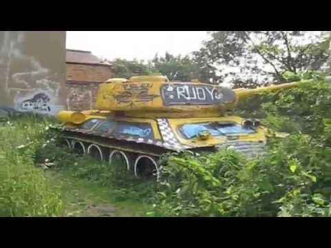 Abandoned Soviet T 34 Tank London