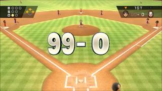 (TAS) Wii Sports Baseball: 99-0 :Max Score Possible【Full Game】