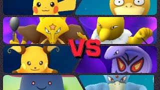 Pokémon GO Gym Battles Level 4 & 3 Gyms Pikachu Raichu Aerodactyl Vileplume & more