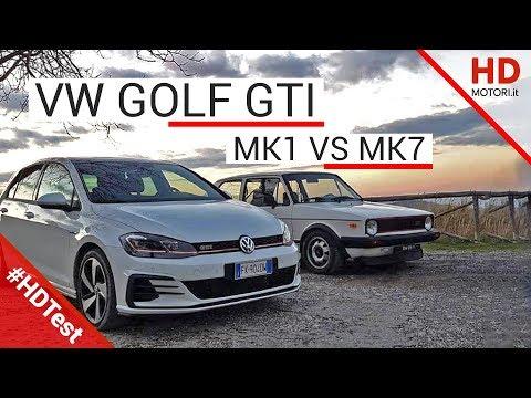 Volkswagen GOLF GTI MK7 vs MK1 CONFRONTO FRA GENERAZIONI