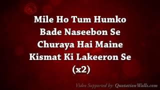Mile Ho Tum (Fever) - Full Song Lyrical video - Tony Kakkar