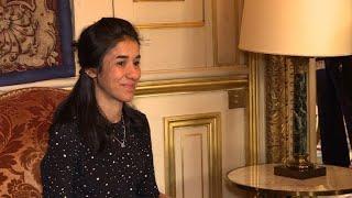 Rencontre entre Le Drian et Nadia Murad, rescapée de Daech