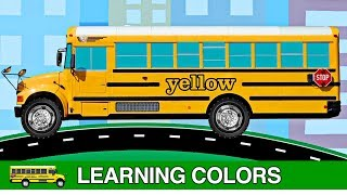 School Buses Teaching Colors for Kids - Best Learning Colours Video for Toddlers