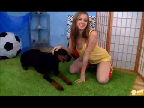 sexy girl and dog 2