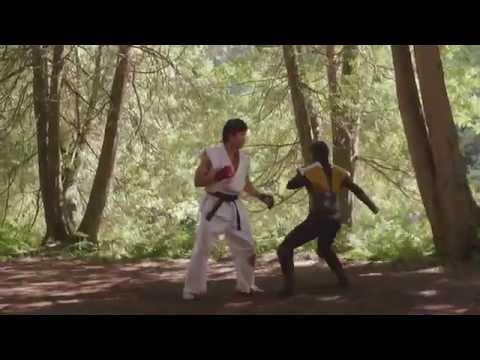 Scorpion vs Ryu MORTAL KOMBAT VS STREET FIGHTER NA VIDA REAL