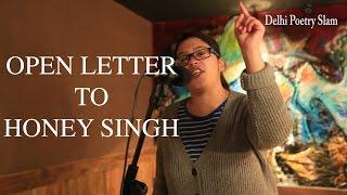 Open Letter to Honey Singh