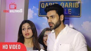 Divyanka Tripathi And  Vivek Dahiya At Qarib Qarib Singlle Special Screening | Viralbollywood