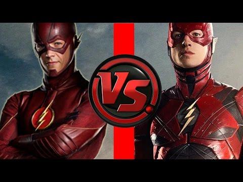 Flash VS Flash Ezra Miller Flash vs Grant Gustin Flash Who is FASTER