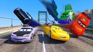 Street Race Crash Cars 3 McQueen Jackson Storm Cruz Ramirez Boost Wingo & Friends Disney Pixar Cars