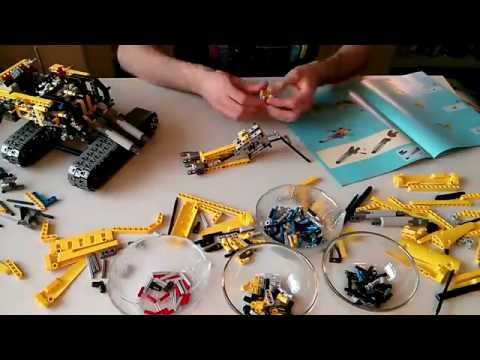 Lego Technic 8043 Motorized Excavator Timelapse