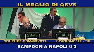 QSVS - I GOL DI SAMPDORIA - NAPOLI 0-2  - TELELOMBARDIA / TOP CALCIO 24