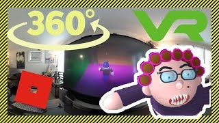 😜Escape Grandma House Obby ROBLOX - FIND HIDDEN TOYS! - 360 Video! - Gaming in Virtual Reality!