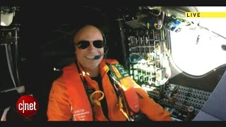 In-flight interview with pilot Bertrand Piccard of the Solar Impulse 2 solar-powered airplane
