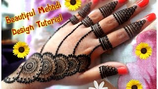 How to apply new latest henna mehndi designs for hands for eid,diwali,weddings tutorial 2017