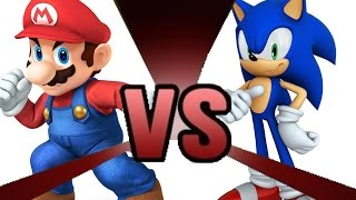 MARIO vs SONIC Sudden Death! Cartoon Fight Club Episode 10