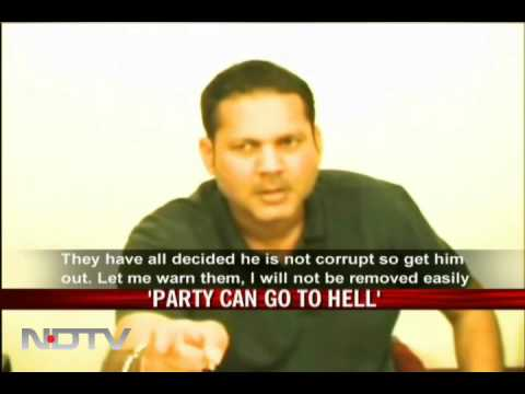 Drunk NCP MP blasts party in press briefing