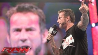 CM Punk challenges Brock Lesnar to a match at SummerSlam: Raw, July 22, 2013