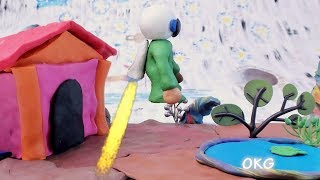 Green Baby Superhero - in MARS MISSION Clay & Play Doh Kids Cartoon