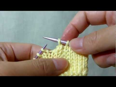 How to knit S2togK1Psso (Slip 2 Together, K1, Pass slipped stitches over) - Center Double Decrease