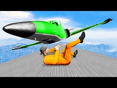 WORLD'S HARDEST DODGE THE AIRPLANE CHALLENGE! (Gta 5 Funny Moments)