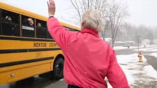 Mentor Grandma loves kids on the bus