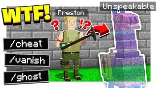 FUNNY FORTNITE HIDE & SEEK in MINECRAFT!   UNSPEAKABLE CHEATED! - Minecraft Mods