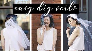 DIY Wedding Veils (birdcage, juliet cap, tiara/headband) | WITHWENDY