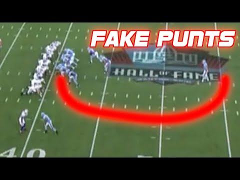NFL Best Fake Punts Ever Compilation