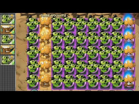Plants vs Zombies 2 Hack Tripitidora con Plantorcha Nivel Max vs Plaga de Zombistein
