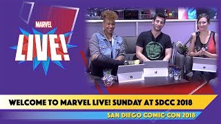 Marvel LIVE! Kicks off the Day Four of SDCC 2018