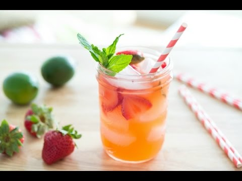 STRAWBERRY LIMEADE RECIPE Easy & Refreshing Summer Drink Recipe Fifteen Spatulas