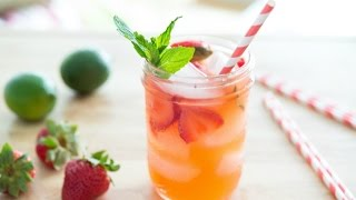 STRAWBERRY LIMEADE RECIPE - Non-Alcoholic Drink Miniseries