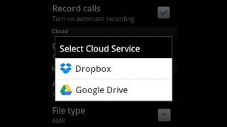 saving our call recordings automatically to dropbo