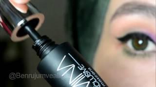 Mor - Yeşil Tonlarında Göz Makyajı  💜 Huncalife Ürünleri İle