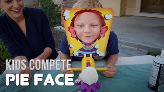 PIE FACE GAME | Kids Compete!