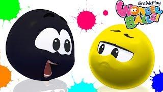 Colors With Squishy Balls Vs Funny Wonderballs Creative Fun For Children Wonderballs Official