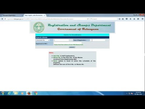 How to Search EC Online  telangana registration