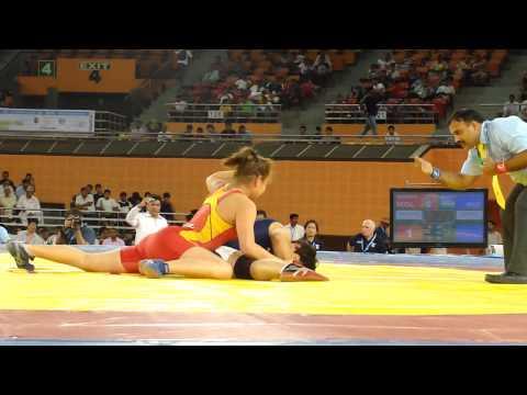 india vs manglia-Women wrestling