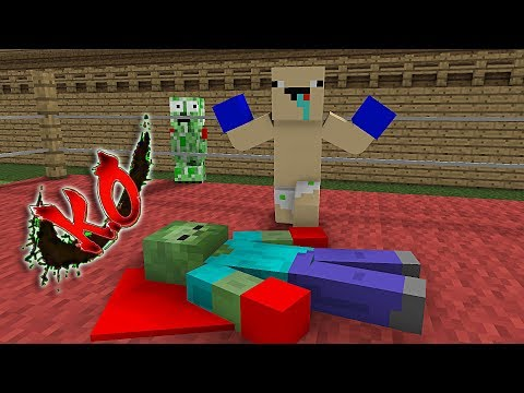 Monster School: Boxing With No Rules - Minecraft Animation