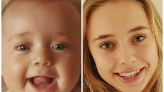 From birth to teen in two minutes! #FastForwardGirl #ITakeCare