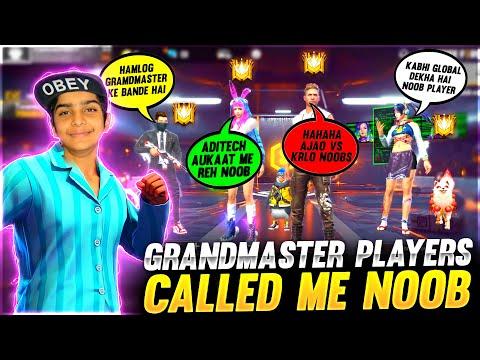 4 Grandmaster Players Called Me Noob ❤️🤯 आजा 1 vs 4 में 😂 Garena Free Fire