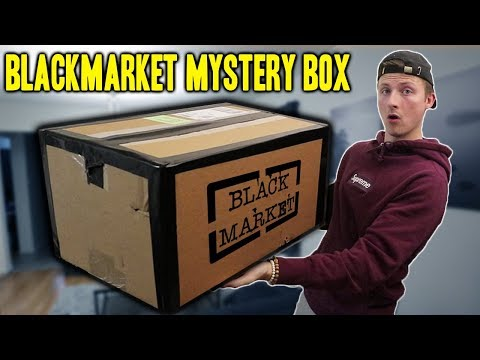 BUYING A BLACK MARKET MYSTERY BOX WON T BELIEVE WHAT IS INSIDE