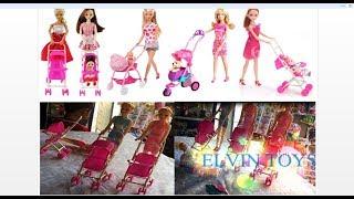 Barbie Doll Pushing Baby  Stroller for doll | Best StrollerToys for  Baby & Kid