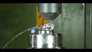 Crushing Prince Rupert's drop with hydraulic press