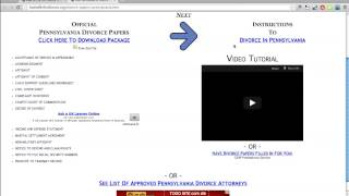 Free Pennsylvania Divorce Papers and Forms