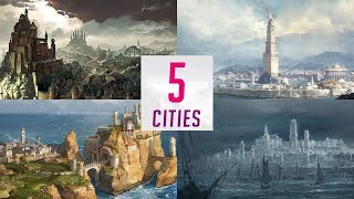 5 Cities of Westeros - Map Detailed (Game of Thrones)